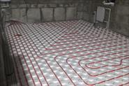 Четыре контура теплых полов , помещение 40 квадратов , плюс четыре радиатора .