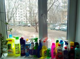 часть средств для уборки