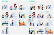 Инфографика, иконки, айдентика