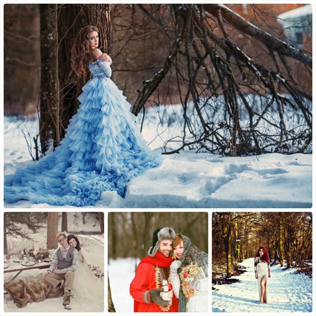 фотосессия зимой в лесу фото