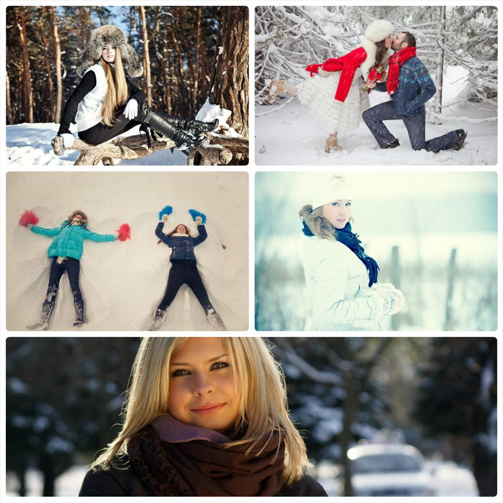 позы для фотосессии на улице зимой