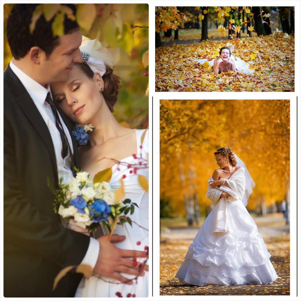 осенние свадебные фотосессии фото