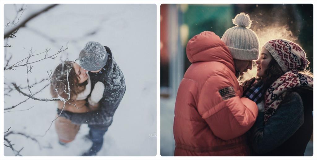 идеи фотосессии зимой для пары