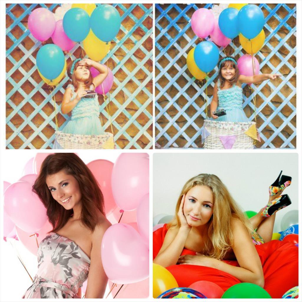 фотосессия с шарами воздушными в студии