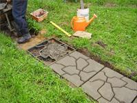 Как приготовить раствор для тротуарной плитки?