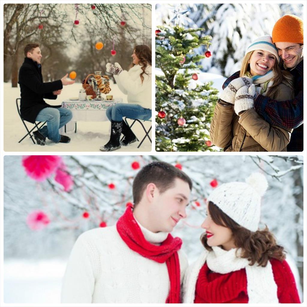 фотосессия для влюбленных зимой